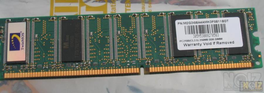 Μνήμη TwinMOS 256 MB DDR 333MHZ (CL2.5)