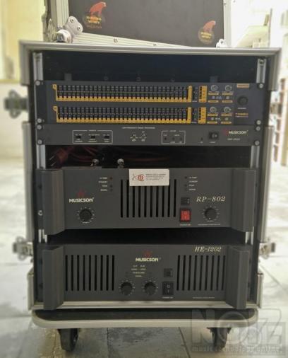RACK Ενισχυτών&Equalizer&ISP processor&2 Sub