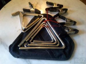 Steel & Bronze Orhestra Triangles