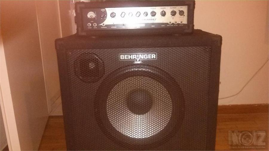 Behringer Ultra Bass BX3000T Bass amp Behringer Ultrabass BA115 600 Watt 1x15 Bass Cabinet