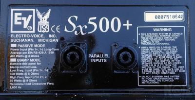 Επαγγελματικά Ηχεία EV sx500 1600 Watts