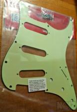 REVERSE BRIDGE  Stratocaster Pickguard (Jimi Hendrix) +Backplate (Mint Green)