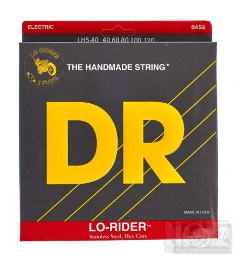 χορδές DR Strings Lo Rider LH5-40 Stainless για πεντάχορδο