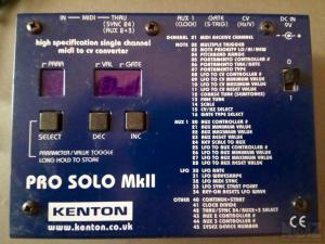 Kenton Pro-SOLO MkII (MIDI to CV converter)
