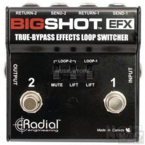RADIAL BigShot™ EFX true bypass effects switcher