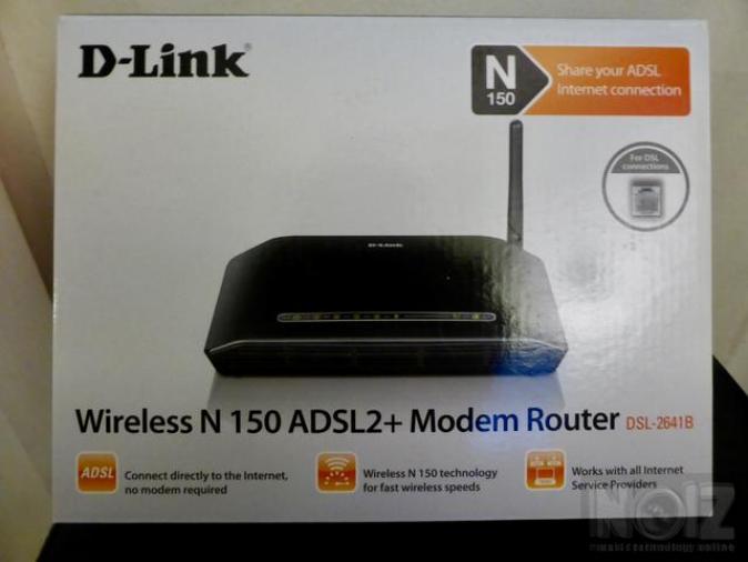 D-Link DSL-2641B ADSL2+ Wireless N150 Router 4x RJ45, annex B