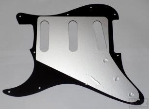 Black 11-βιδο 3ply Pickguard SSS