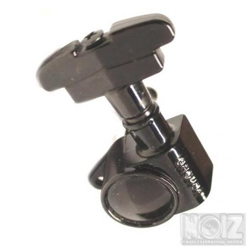 Grover 109BC Super Rotomatic Imperial 3x3 tuners, Black Chrome