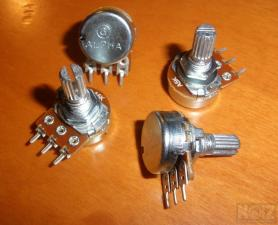 Alpha Pots, Orange Drop Capacitors.