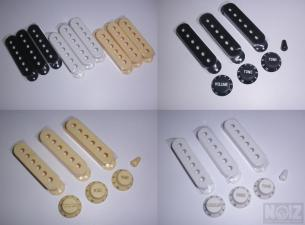 Stratocaster's Knobs & Pickups covers