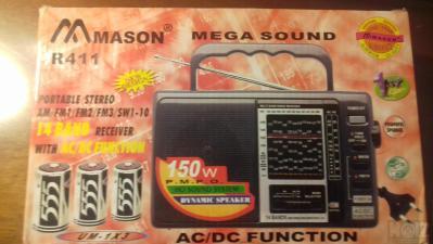 Φορητό ραδιόφωνο μπαταρίας-ρεύματος