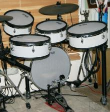 Σετ e-drums 5άρι, White Vintage .