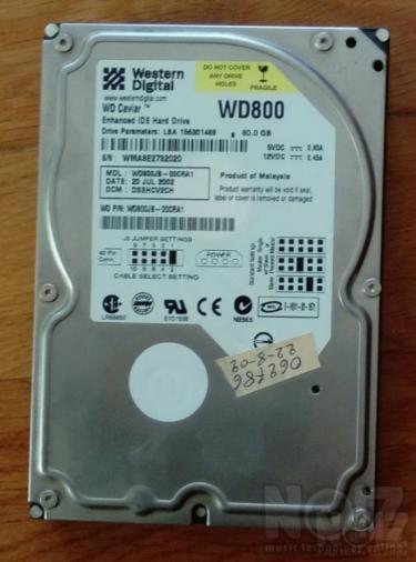 ΣΚΛΗΡΟΣ ΔΙΣΚΟΣ WD800 IDE 80Gb