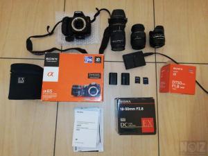 Sony a65vk+3φακοι