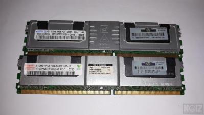 2x512MB DDR2 PC2-5300F ECC server Ram