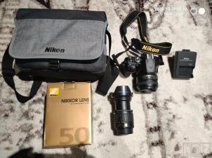 NIKON D-3500 + NIKKOR 50mm f1.8 + 18-55 VR