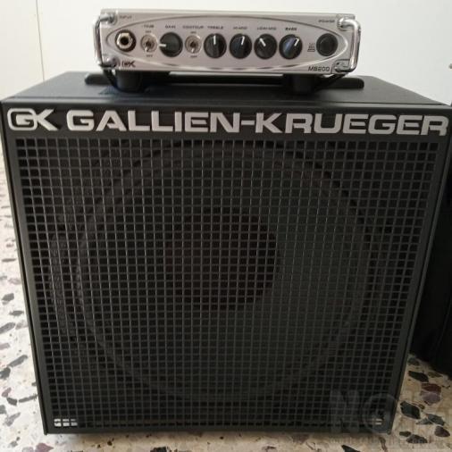 Gallien Krueger MB200 & metal cabinet 12
