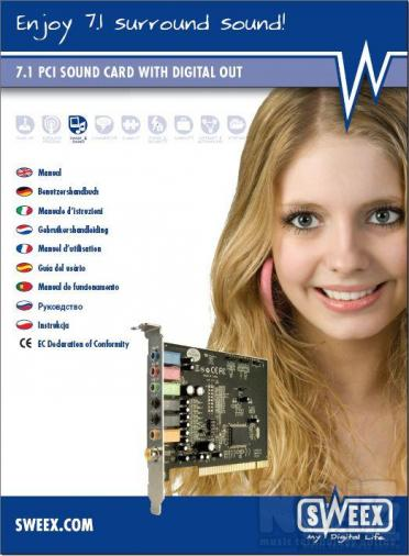 SWEEX 7.1 PCI SOUND CARD WITH DIGITAL OUT