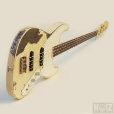 Vintage White Relic μπάσο από Burretone Guitars