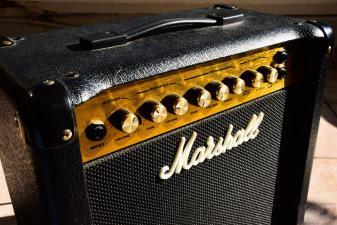 Ibanez Prestige Rg 1570 & Marshall practice amp.