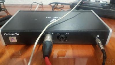 Apogee element 24 audio interface καρτα ηχου εξωτερικη thunderbolt