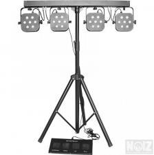 MS-407 Βάση φώτων 4 PAR 7X10W RGBW 4in1 χειριστήριο ποδιών